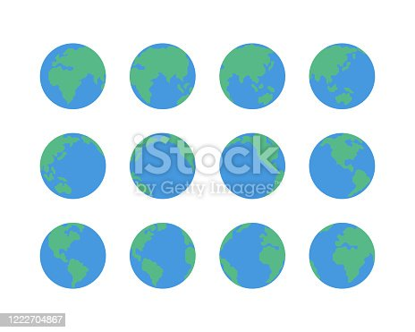 Earth globe icons,vector illustration. EPS 10.