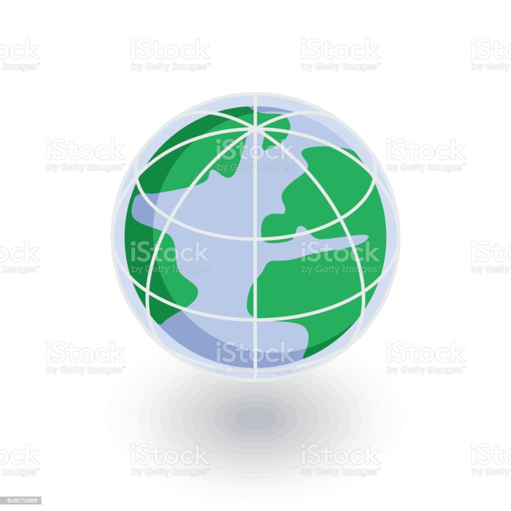 Earth globe isometric flat icon 3d vector stock vector art more earth globe isometric flat icon 3d vector royalty free earth globe isometric flat gumiabroncs Choice Image