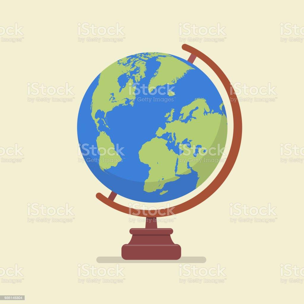 Earth globe model vector art illustration