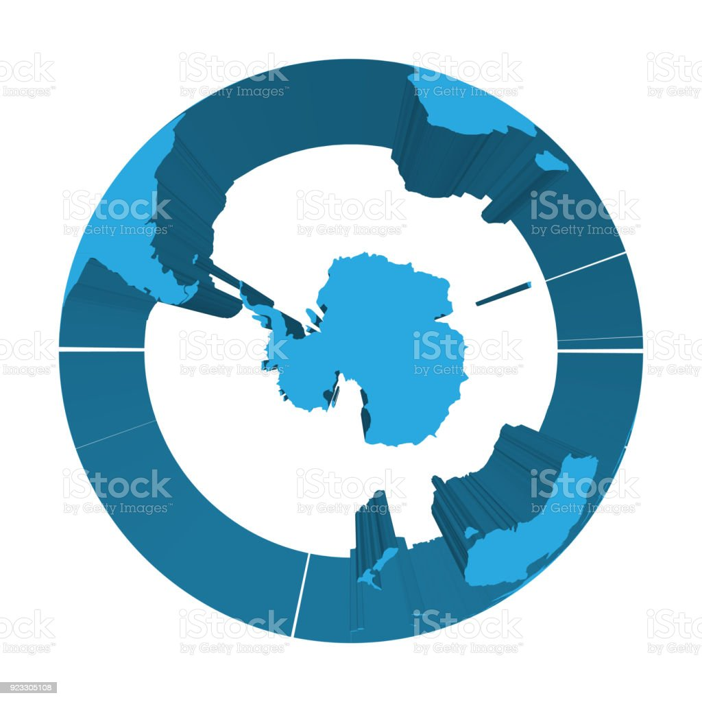 Earth globe model with blue extruded lands focused on antarctica and earth globe model with blue extruded lands focused on antarctica and south pole 3d gumiabroncs Choice Image