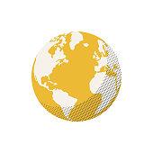 istock Earth globe retro colors half tone texture effect 1185554223