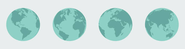 erde, globus gesetzt - globus stock-grafiken, -clipart, -cartoons und -symbole