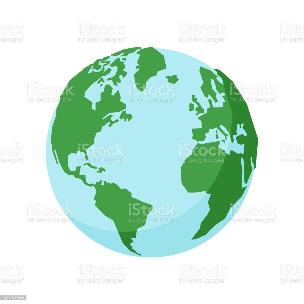 Earth globe - arte vettoriale royalty-free di Acqua