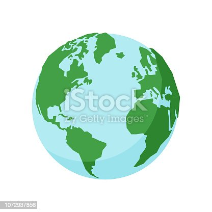 Vector illustration of a colorful Earth globe
