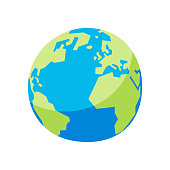Vector illustration of a colorful Earth globe for design projects, social media concepts and ideas.