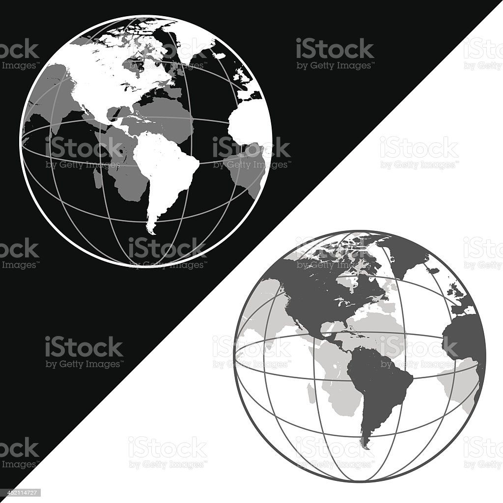 Earth Globe royalty-free stock vector art