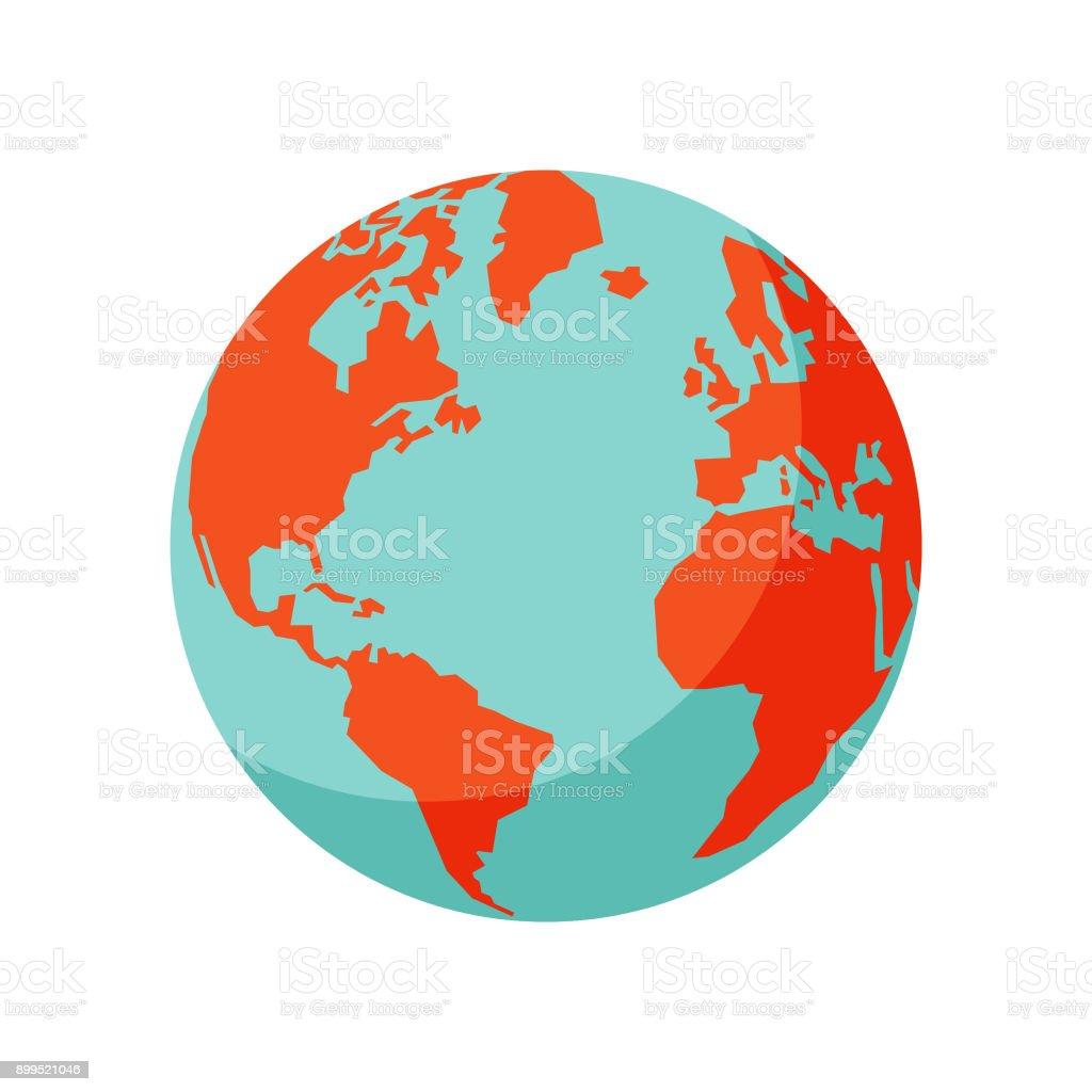 Earth globe vector art illustration