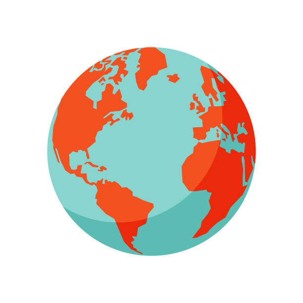 stockillustraties, clipart, cartoons en iconen met earth globe - planeet aarde