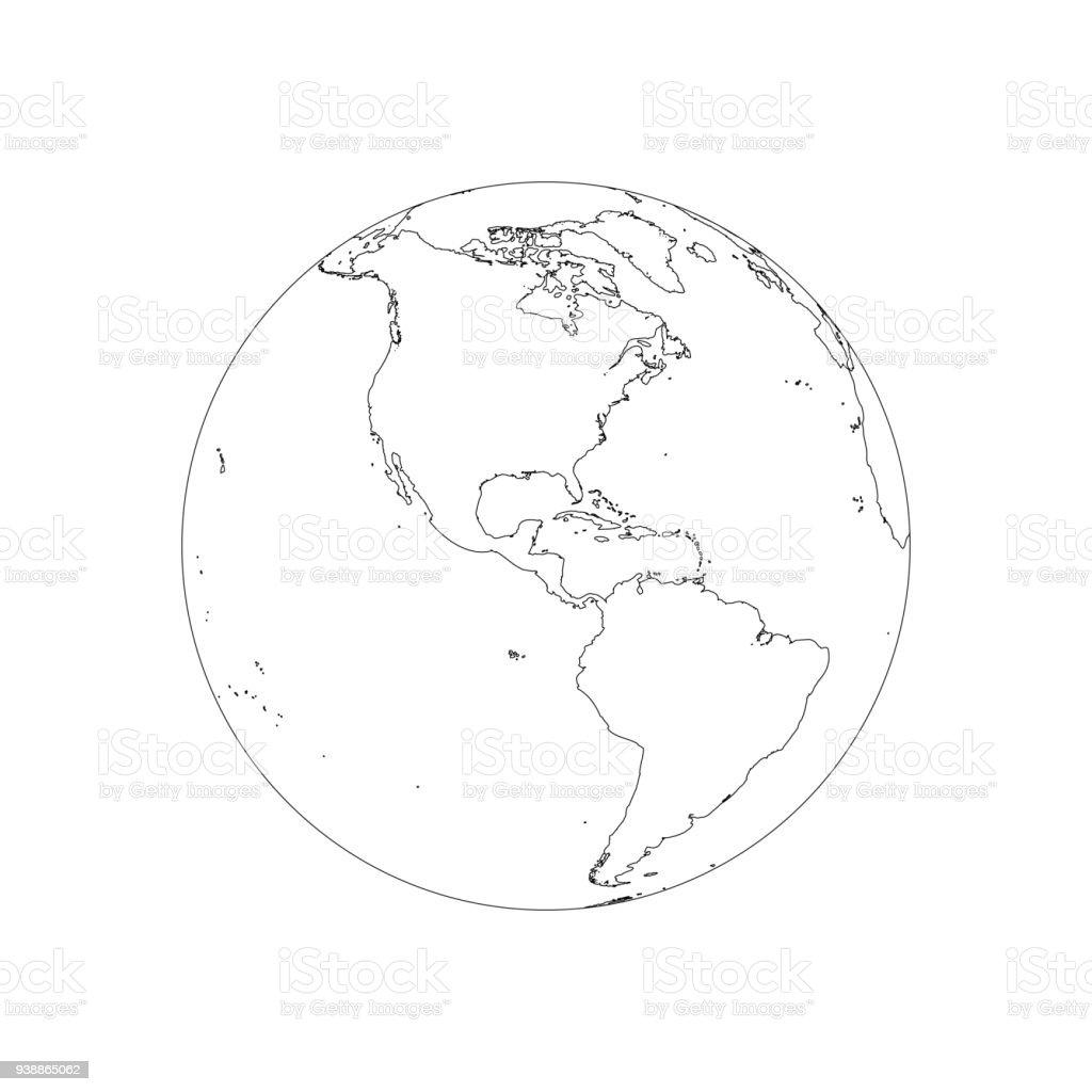 Ilustración De Estructura Metálica De Globo De La Tierra