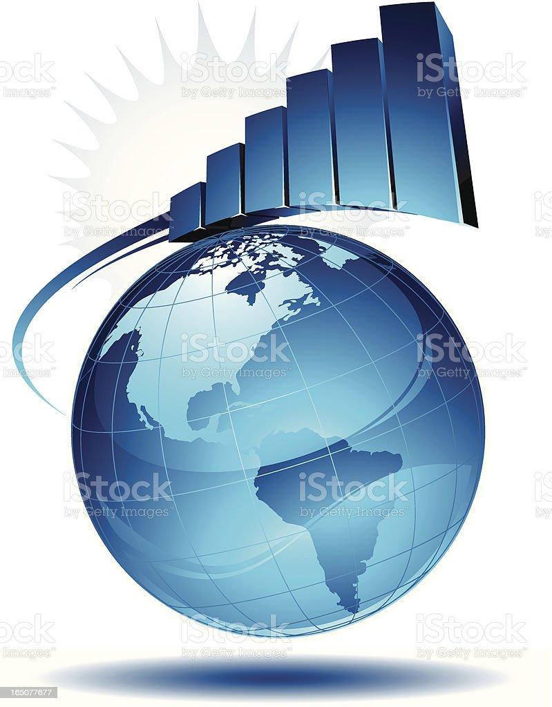 earth graph royalty-free stock vector art