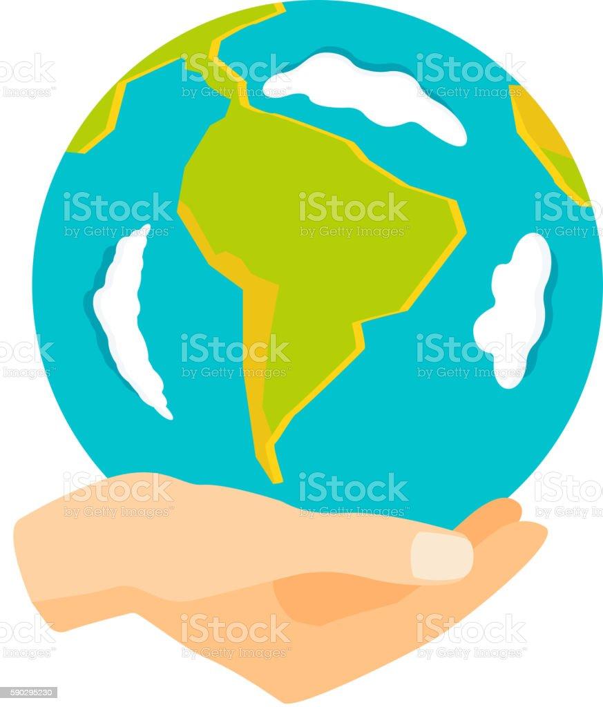 Earth hands vector illustration. royaltyfri earth hands vector illustration-vektorgrafik och fler bilder på abstrakt