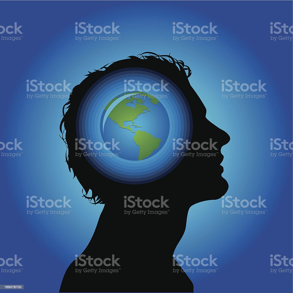Earth head royalty-free earth head stock vector art & more images of adult