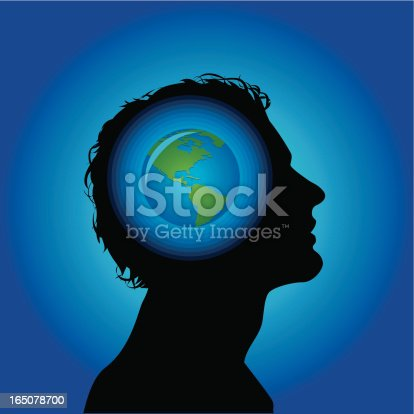 Earth Head Stock Vector Art & More Images of Adult 165078700