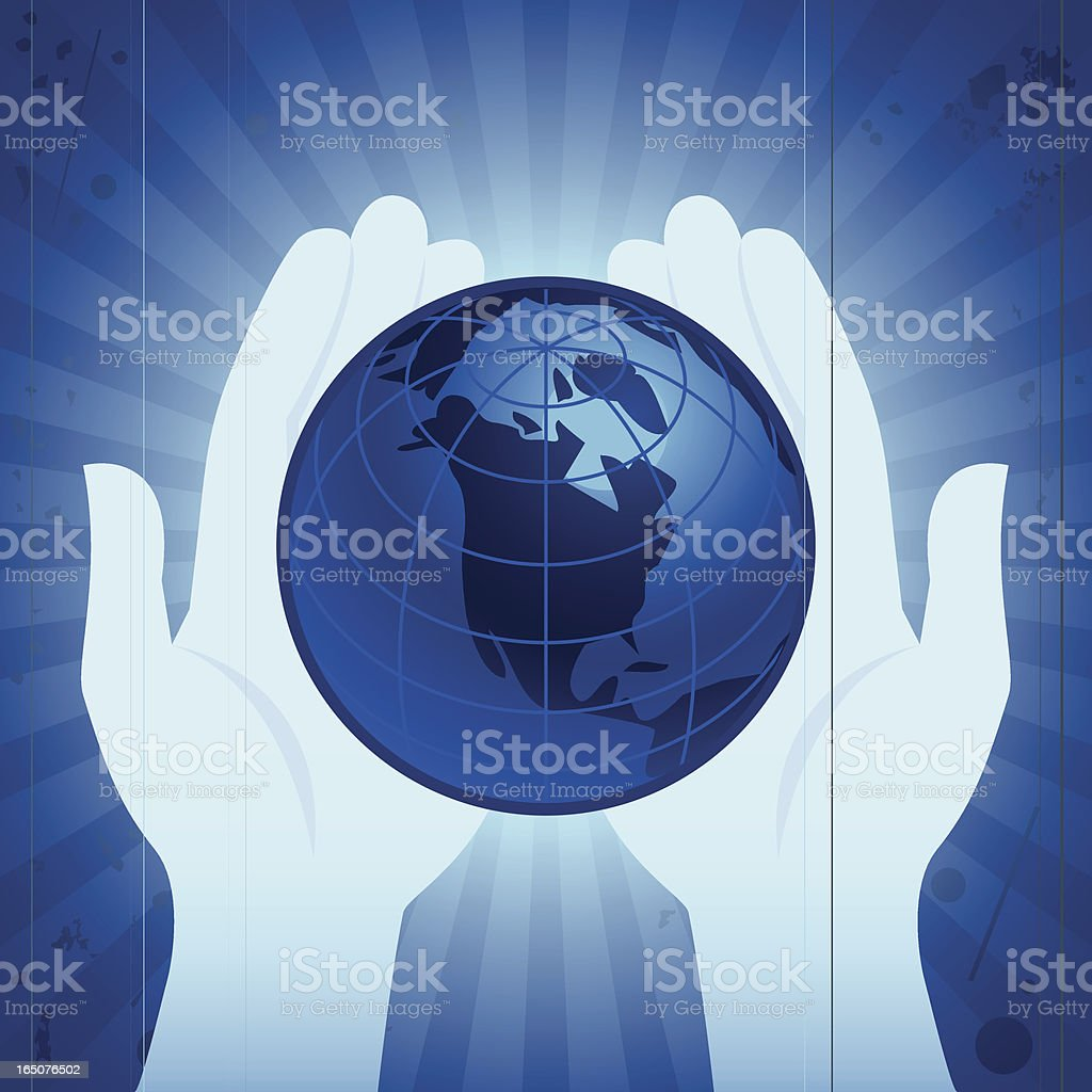 Earth Hold royalty-free stock vector art