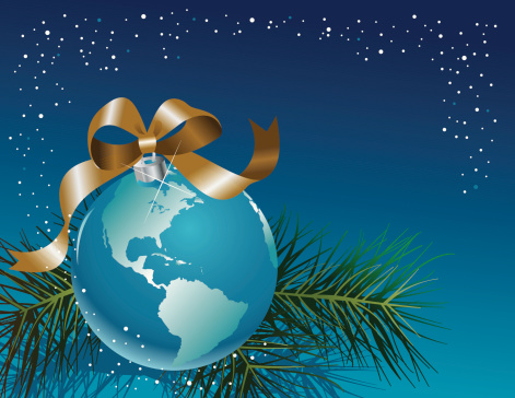 Earth Holiday Ornament