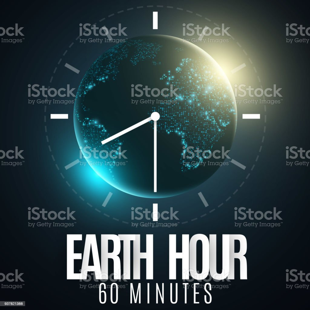 Earth hour futuristic planet earth 60 minutes without electricity 3d earth hour futuristic planet earth 60 minutes without electricity 3d paper letters gumiabroncs Choice Image