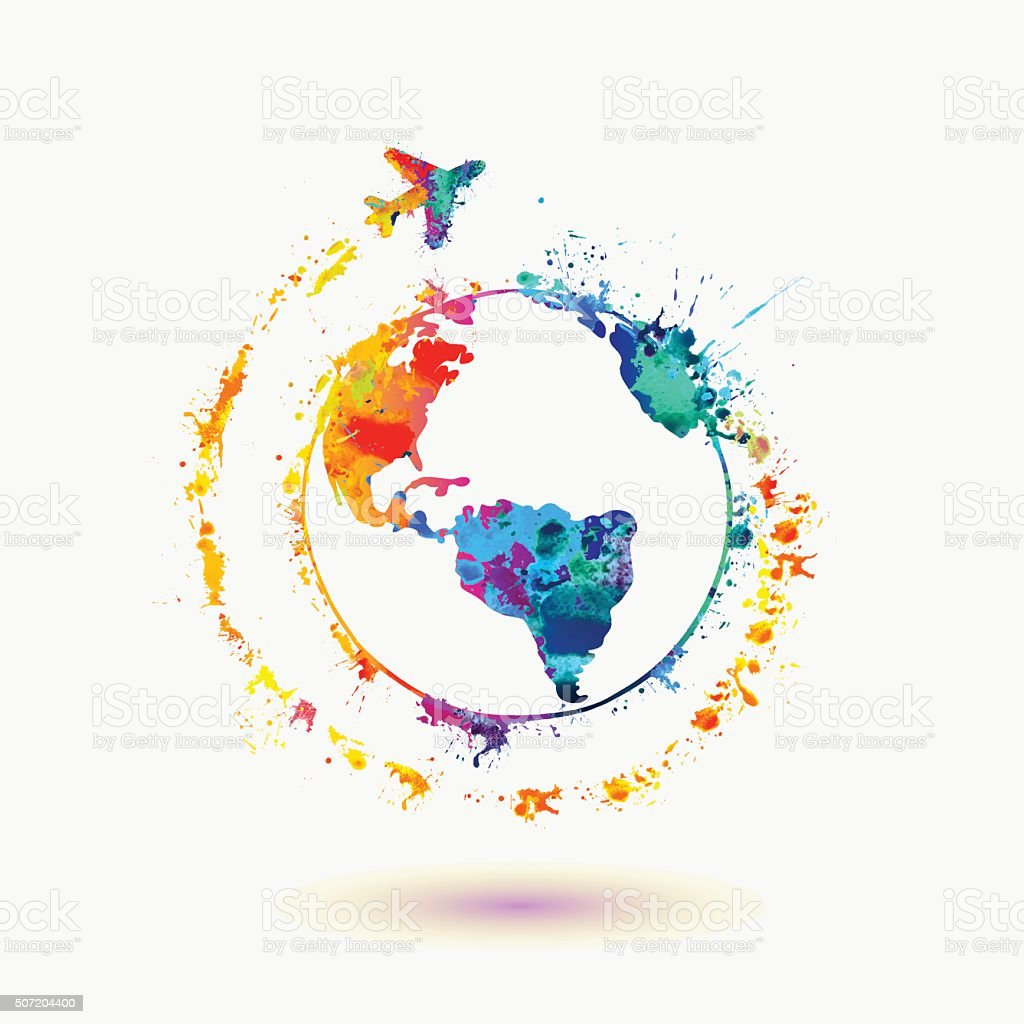 Earth icon around the world travel stock vector art more for Art from around the world