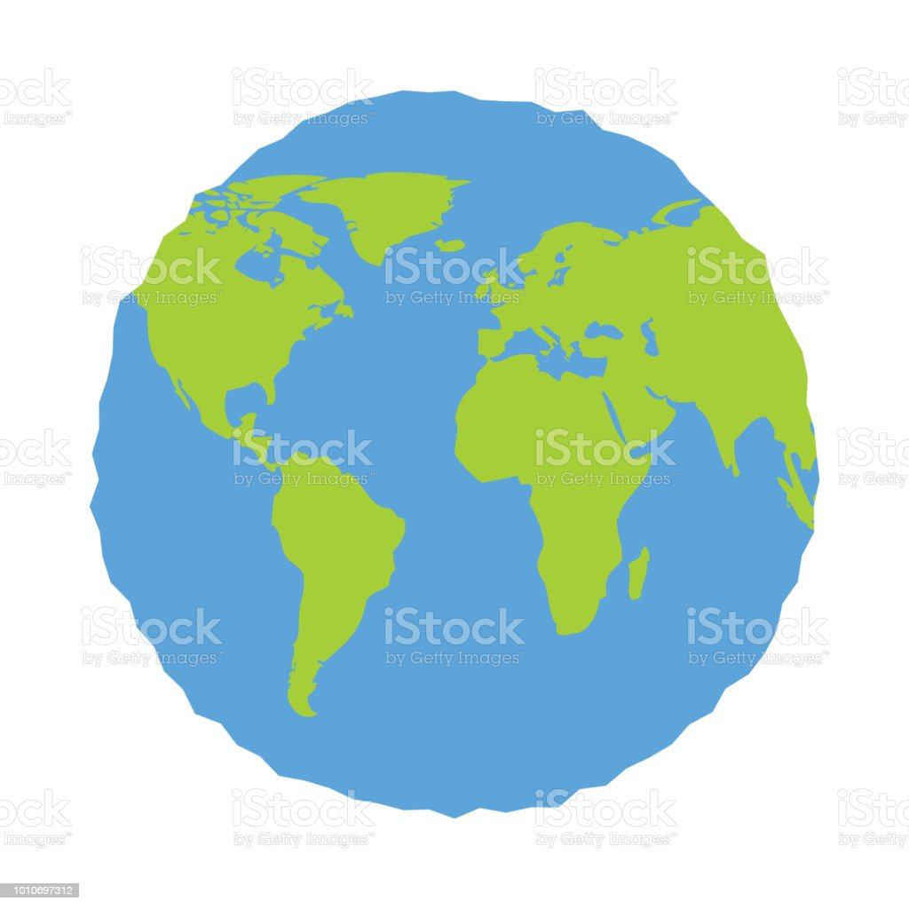Earth icon globe in trendy flat style isolated on white background earth icon globe in trendy flat style isolated on white background earth planet world gumiabroncs Gallery
