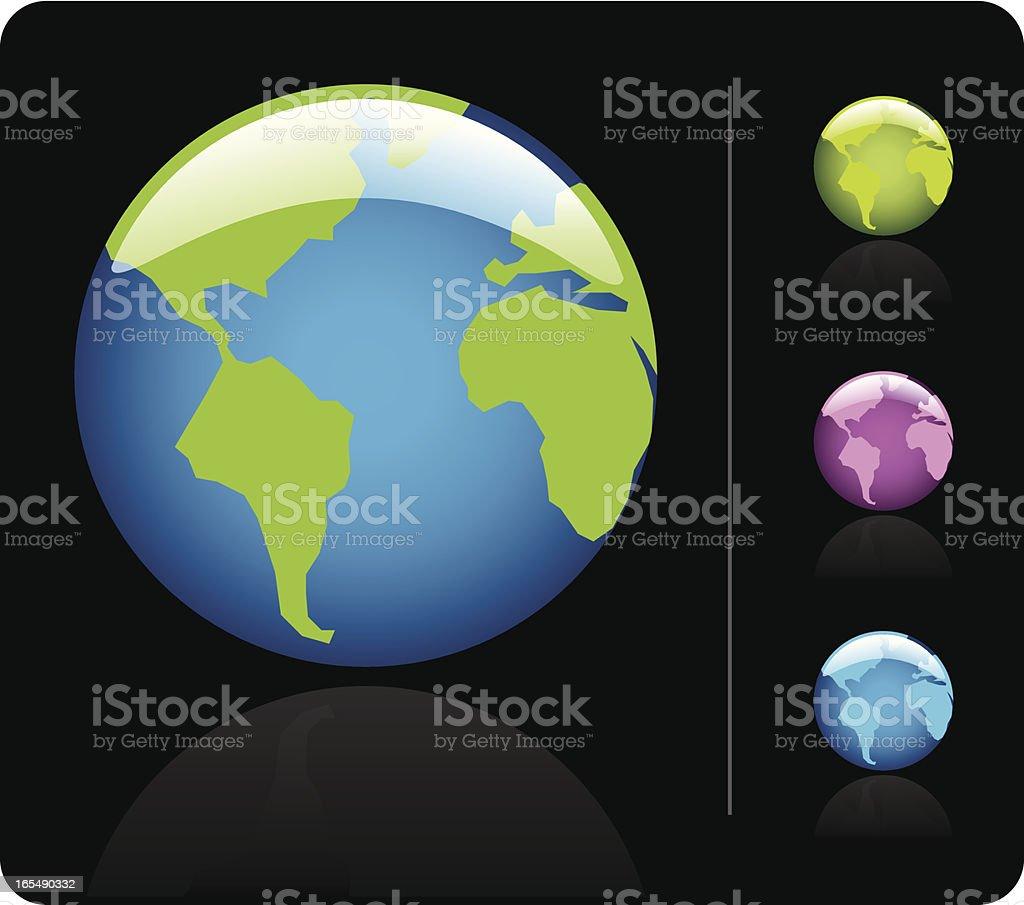 Earth Icon vector art illustration