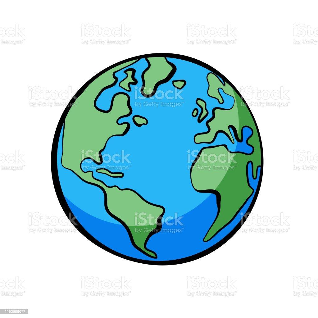 地球イラスト漫画線画スタイル大胆な色 アイコンのベクターアート素材や画像を多数ご用意 Istock
