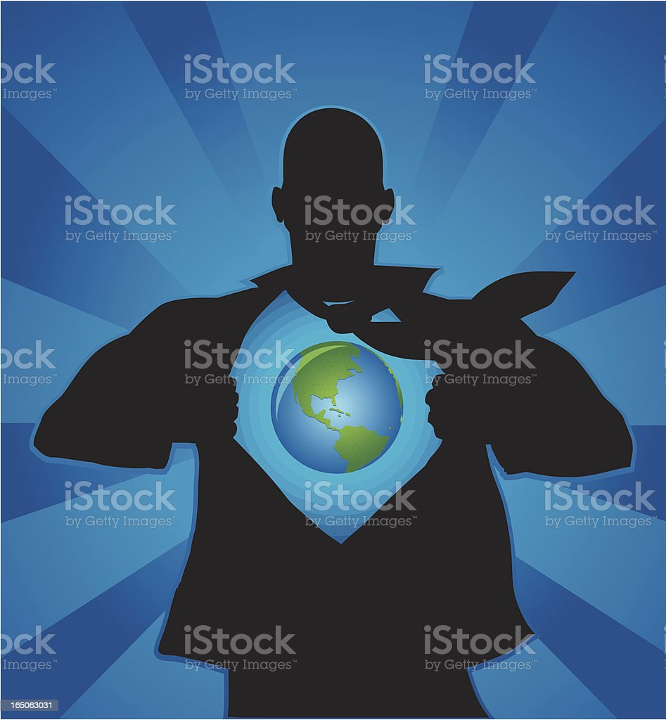 Earth in me royalty-free stock vector art