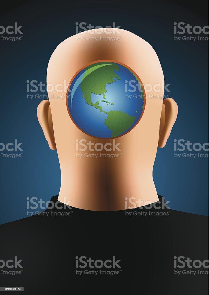 Earth in my mind vector art illustration