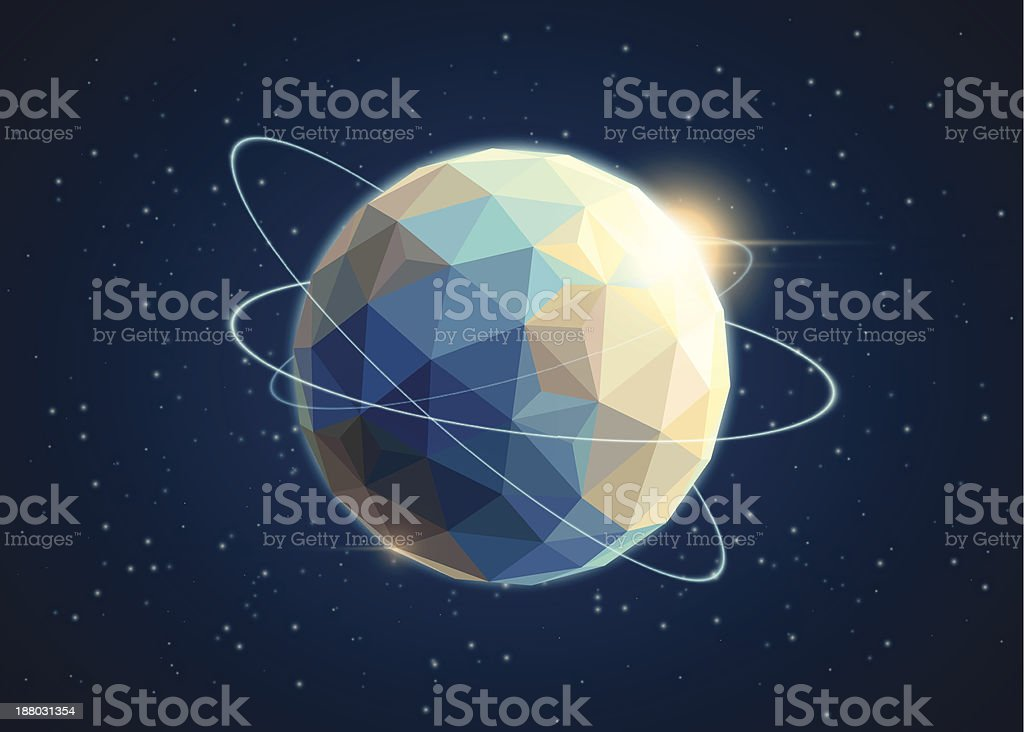 Earth in origami style. royalty-free stock vector art