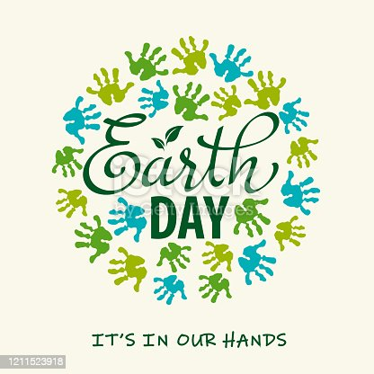 The future of planet earth is in our hands. Celebrate Earth Day with making earth hand prints craft.