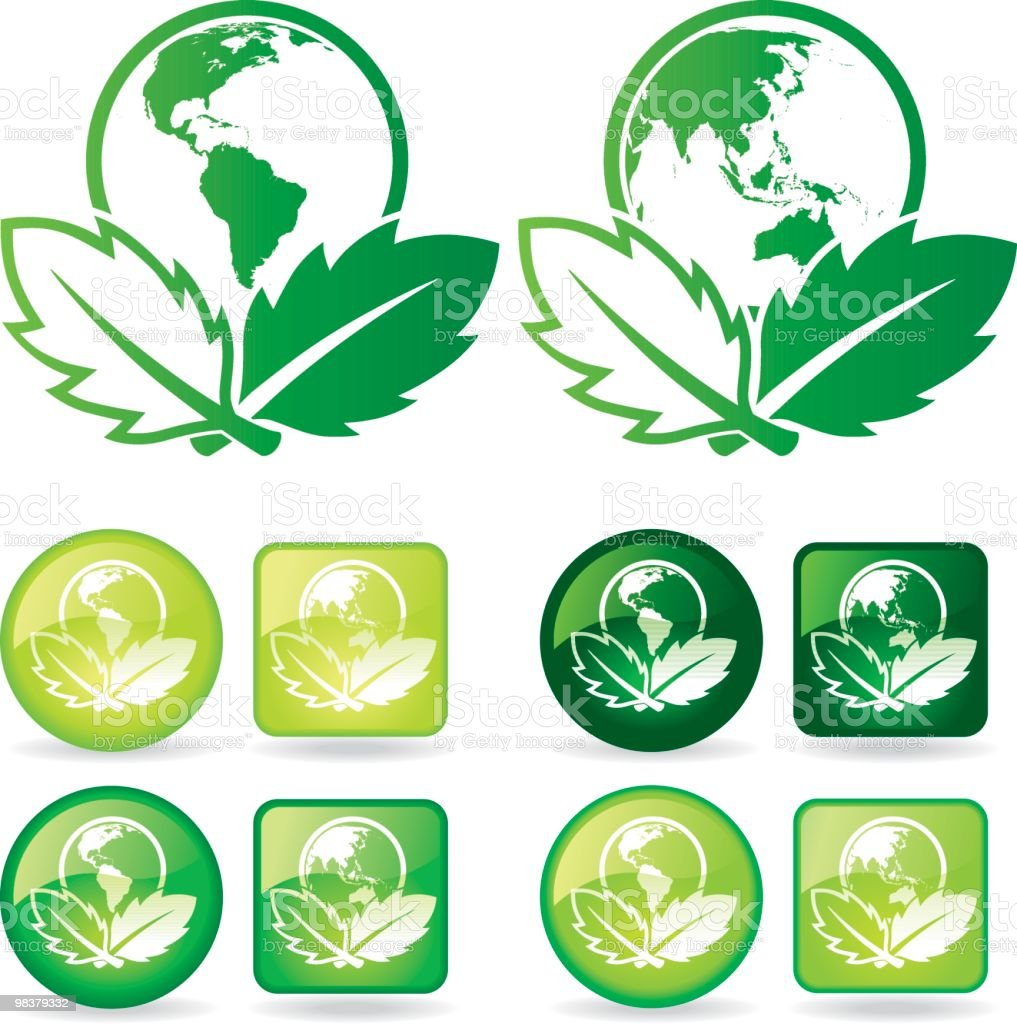 Earth Leaves royalty-free earth leaves stock vector art & more images of circle