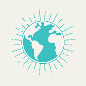 Globe lines blast lines symbol shape planet earth.