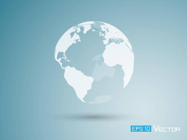 Erde auf blauem Hintergrund – Vektorgrafik
