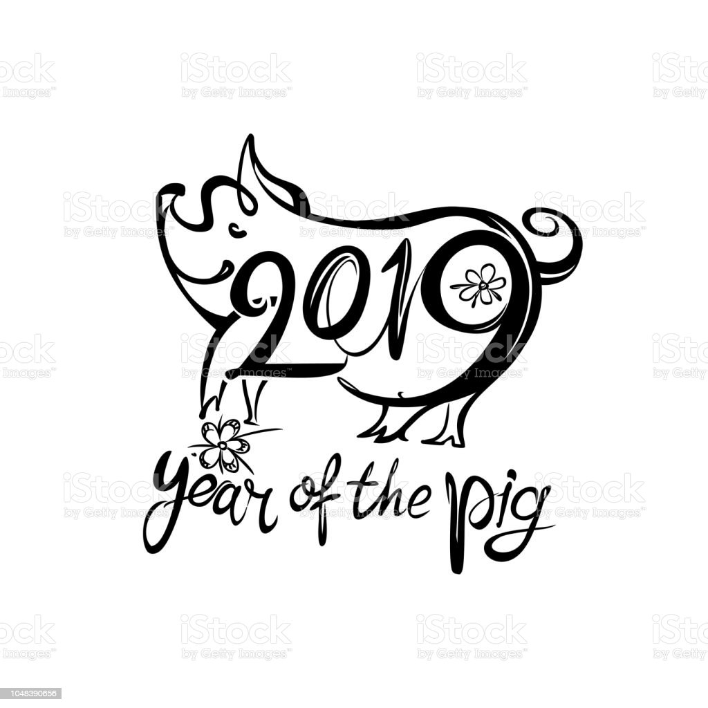 Earth pig 2019 year of the pig on the chinese calendar - Photo de cochon a imprimer ...