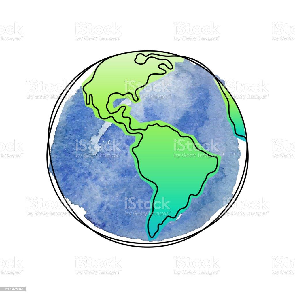 Earth Planet artistic vector illustration - Royalty-free Abstrato arte vetorial