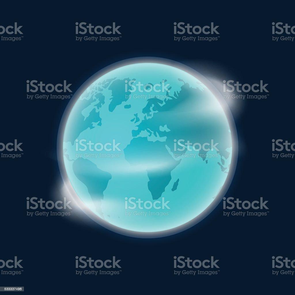 Ziemia Planeta Glob Ilustracja Wektorowa Odizolowane Na Ciemne