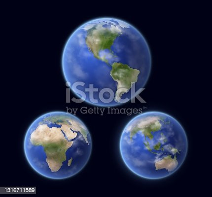 istock Earth Planet surface, space view vector 1316711589