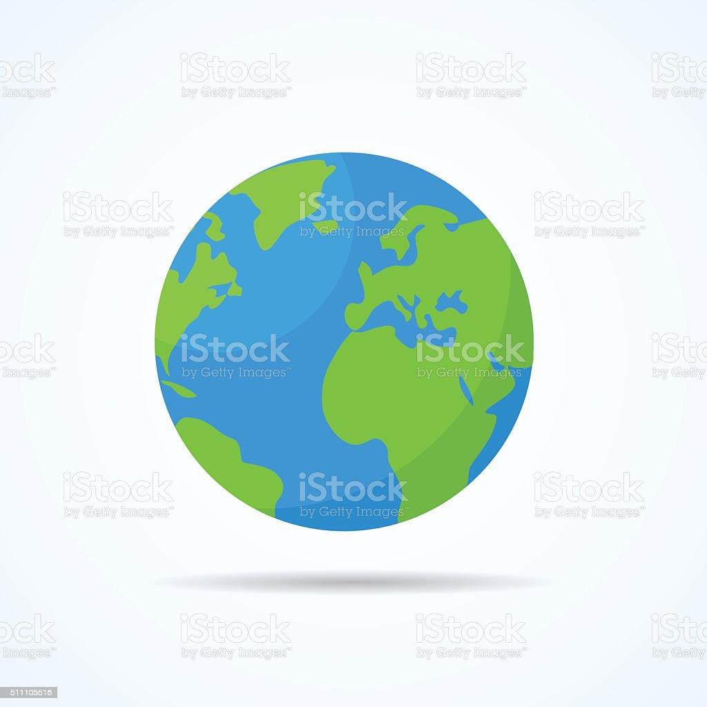 Earth planet. vector art illustration