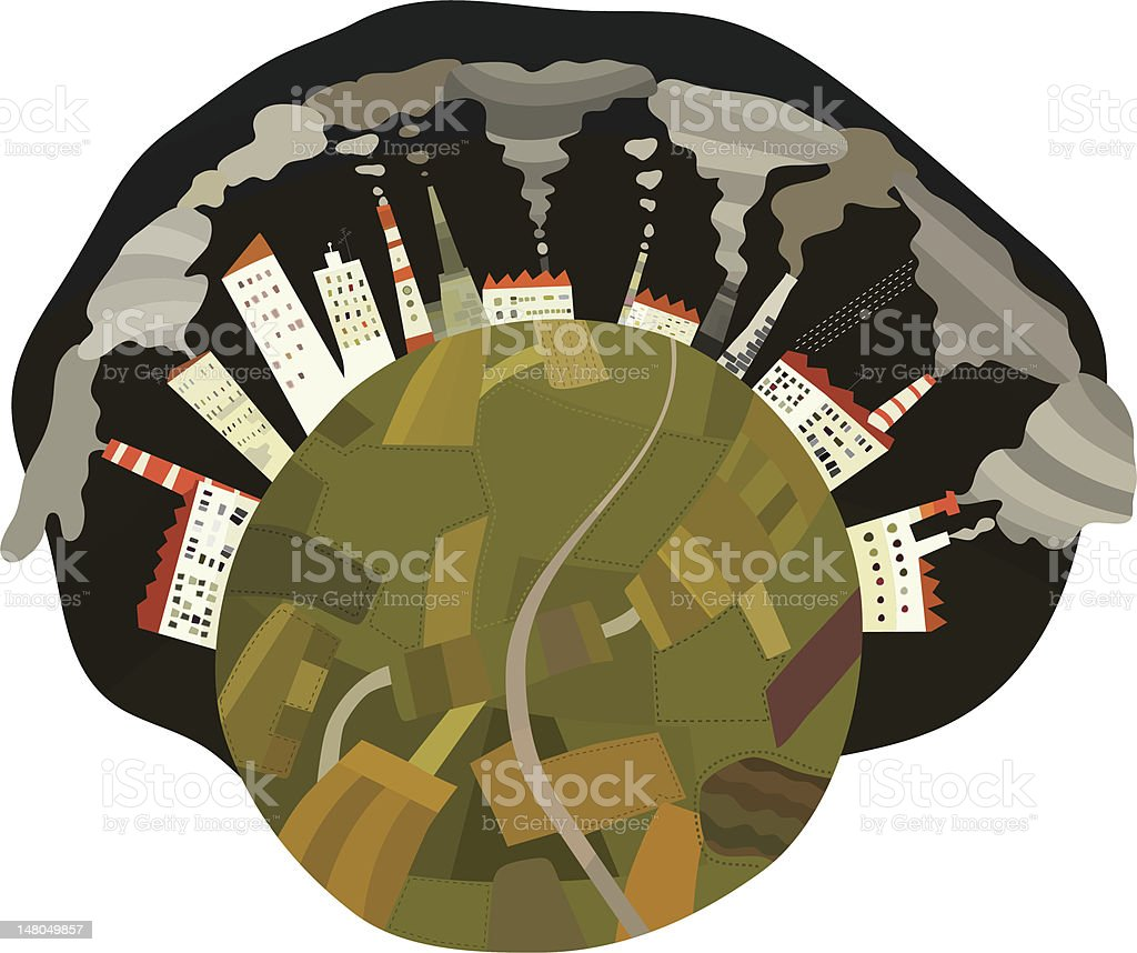 Earth Pollution royalty-free stock vector art