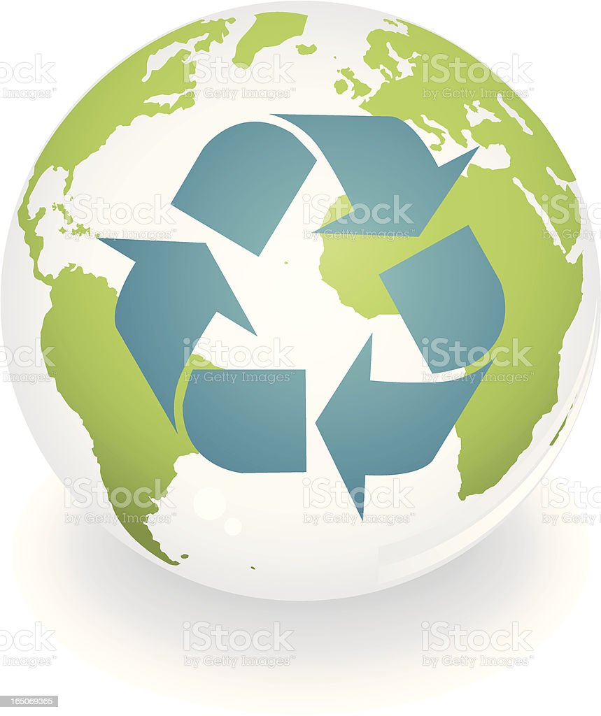 Earth Recycle royalty-free stock vector art