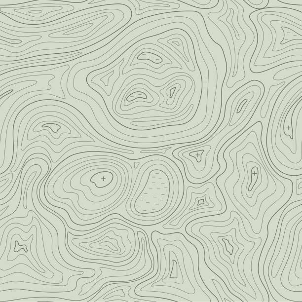 Earth relief map seamless pattern element. Generated conceptual elevation vector. – Vektorgrafik