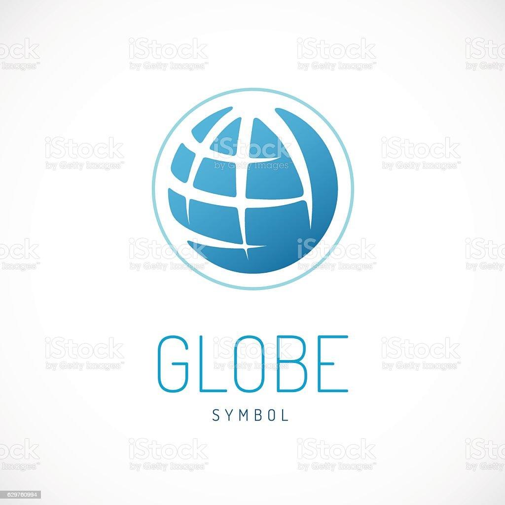 Earth sign. Globe sign. - ilustración de arte vectorial