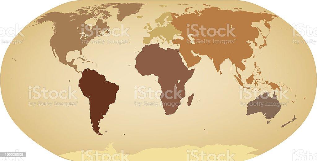 Earth Toned Earth1 (Vector) royalty-free stock vector art