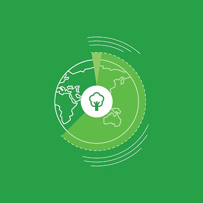 Earth tree, save earth save tree, concept.