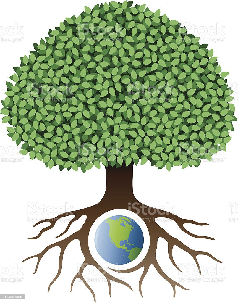 Earth Tree Stock Vector Art & More Images of Color Gradient ...