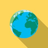 Vector illustration of the earth.