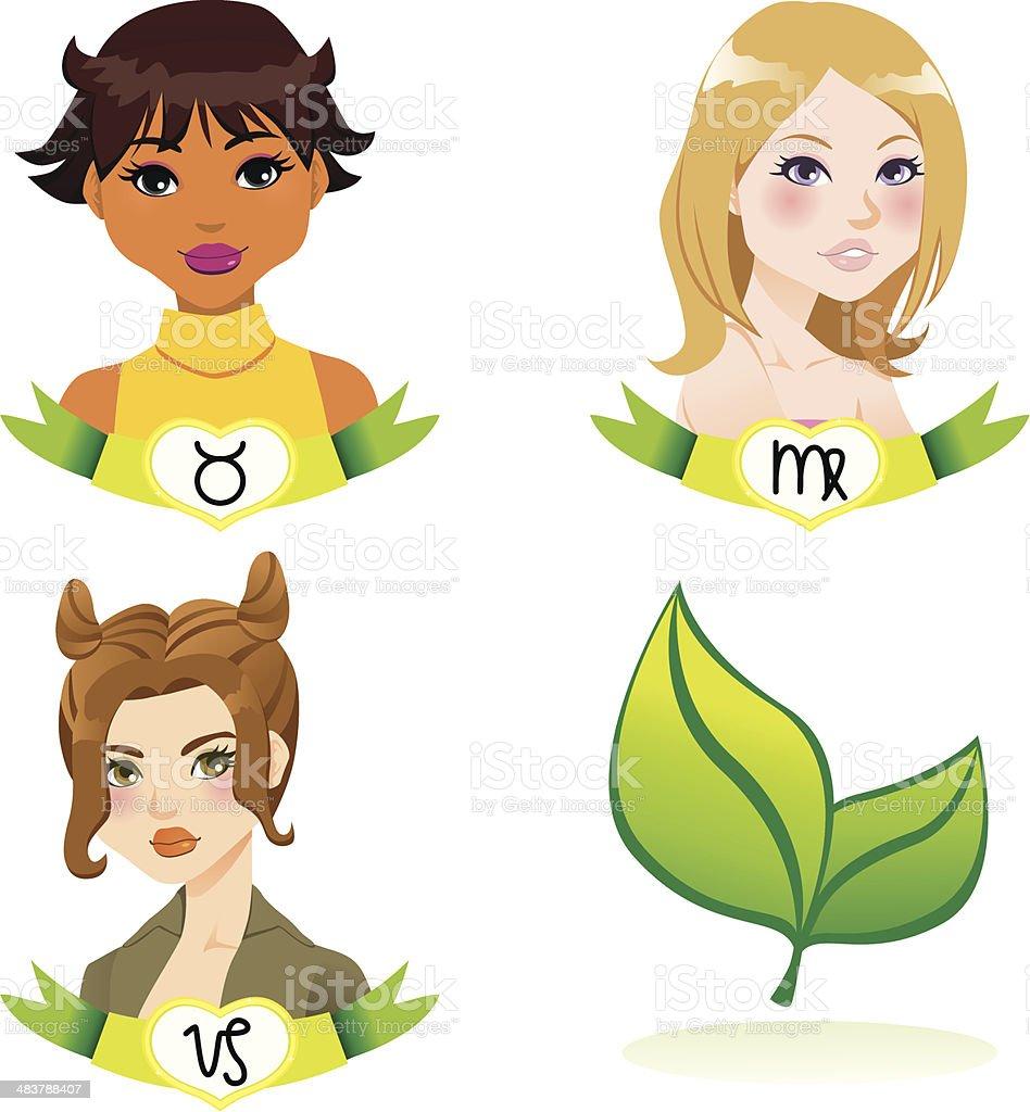 Earth Zodiac Women royalty-free earth zodiac women stock vector art & more images of adult