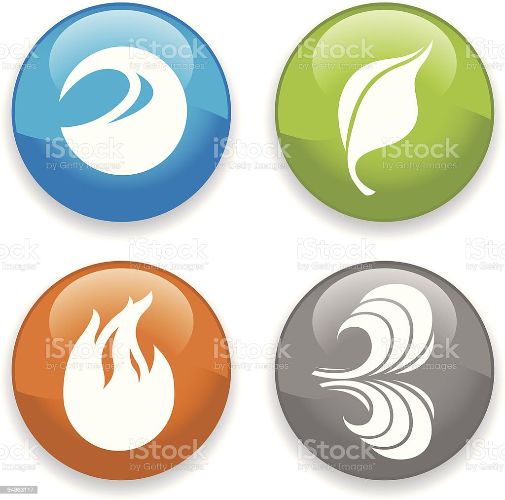 Earthly Elements Icons royalty-free earthly elements icons stock vector art & more images of blue