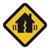Earthquake metaphor vector icon