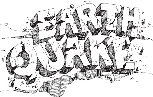 Earthquake Pen And Ink