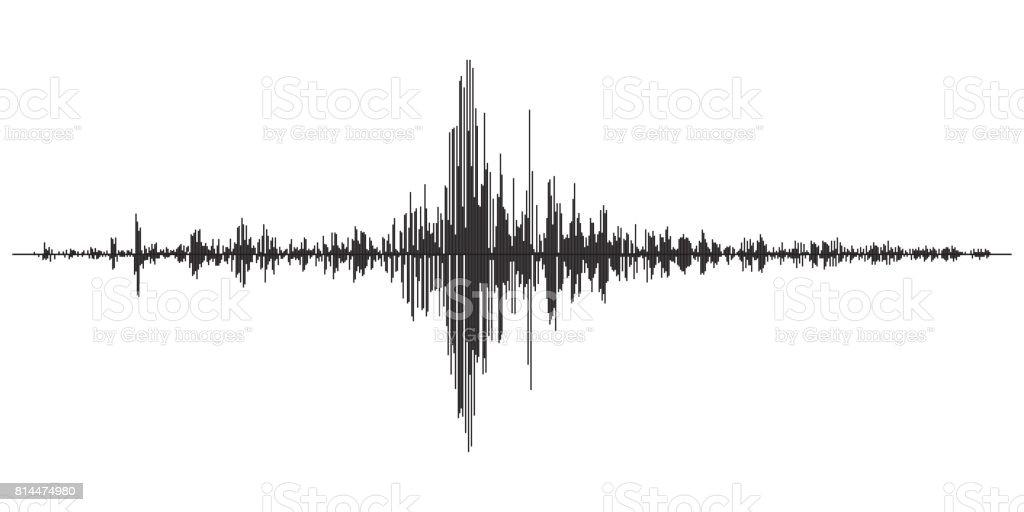 Earthquake seismic activity vector art illustration