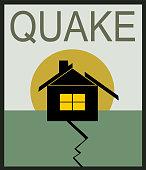 earthquake damage to house